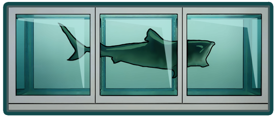 Shark tank by Damien Hirst